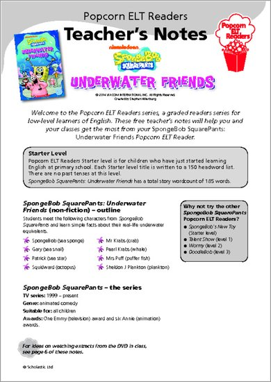Underwater Friends - Resource Sheets and Answers