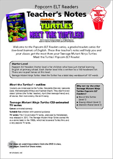 Meet the Turtles! - Resource Sheets and Answers