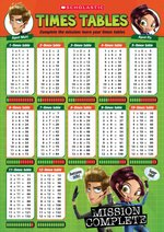 Scholastic Posters: Times Tables Poster