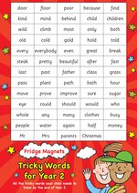 Scholastic Magnets: Fridge Magnets - Tricky Words for Year 2