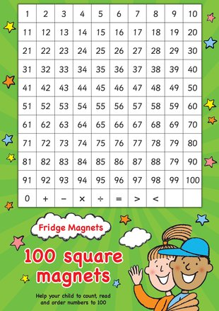 Fridge Magnets - 100 Square Maths Magnets