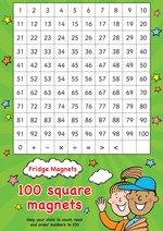 Scholastic Magnets: Fridge Magnets - 100 Square Maths Magnets