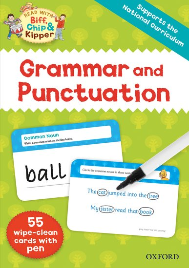 Read With Biff, Chip and Kipper: Grammar and Punctuation Flashcards