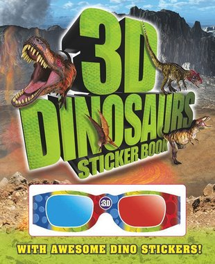 3D Dinosaurs Sticker Book