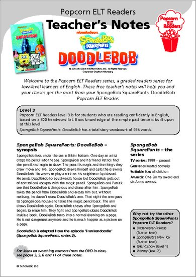 SpongeBob - DoodleBob Resource Sheets and Answers