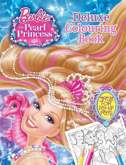 Barbie and the Pearl Princess: Deluxe Colouring Book