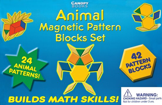 Animal Magnetic Pattern Blocks Set