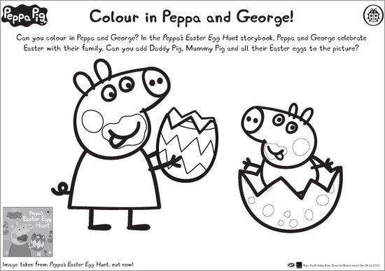 Peppa & George Easter colouring