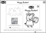 Peppa Pig Easter Card