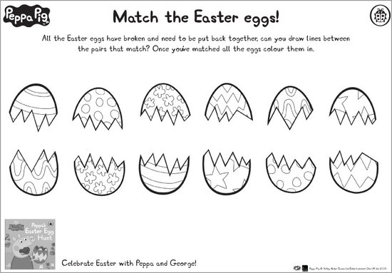Match the Easter eggs puzzle