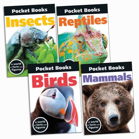 Pocket Books: Animals Pack x 4