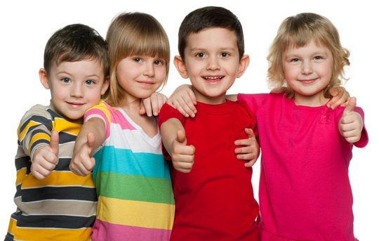 Children wearing t-shirts