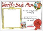 Mummy Shop Best Mum certificate