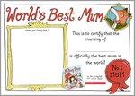 Mummy Shop Best Mum certificate