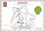 Colour the Slightly Annoying Elephant