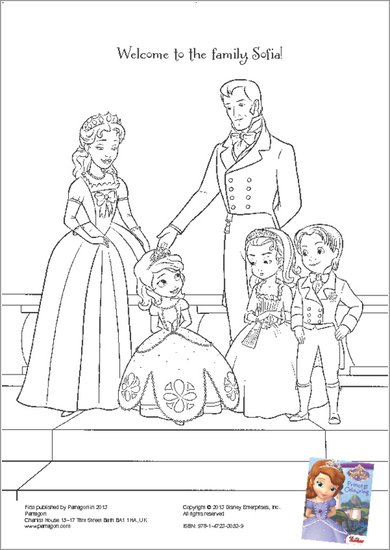 Sofia the First colouring