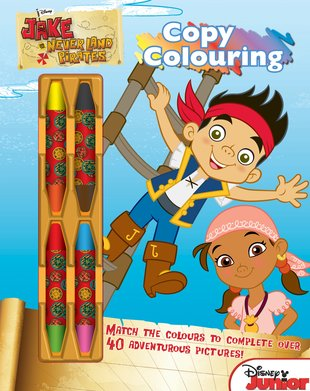 Jake and the Never Land Pirates: Copy Colouring