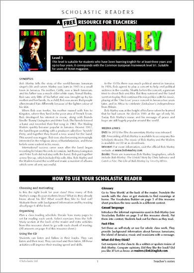 Bob Marley - Resource Sheets and Answers
