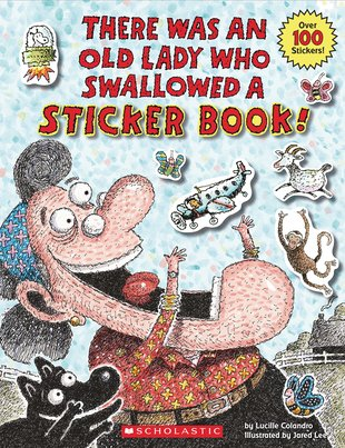 There Was an Old Lady Who Swallowed a Sticker Book!