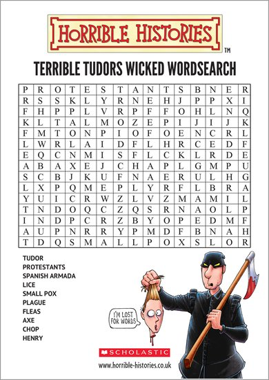 Terrible Tudors Wicked Wordsearch