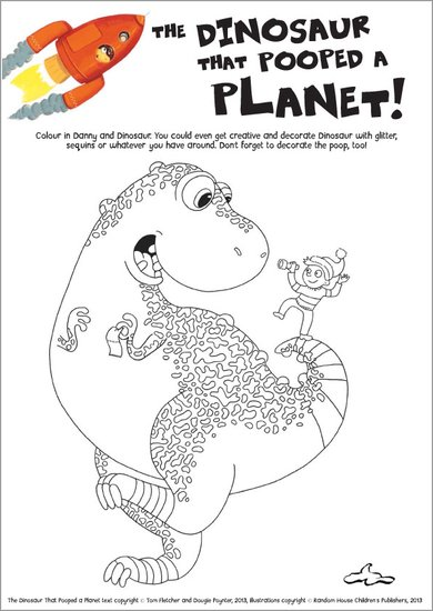 The Dinosaur That Pooped a Planet colouring
