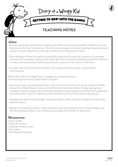 Wimpy Kid Teaching Notes
