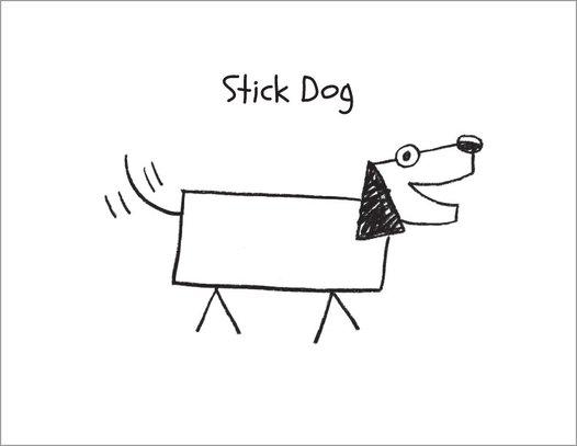 Stick Dog colouring