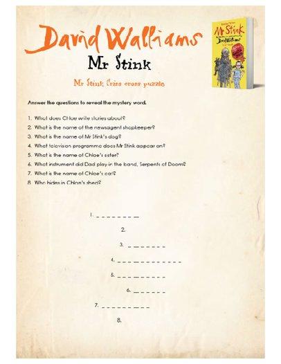 Mr Stink Teachers' Resource pack