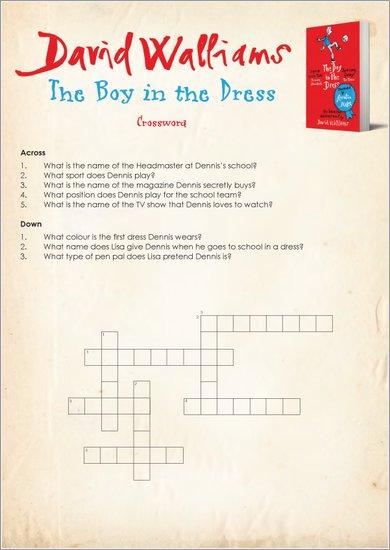 Boy in the Dress crossword