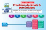 fractions decimals and percentages poster