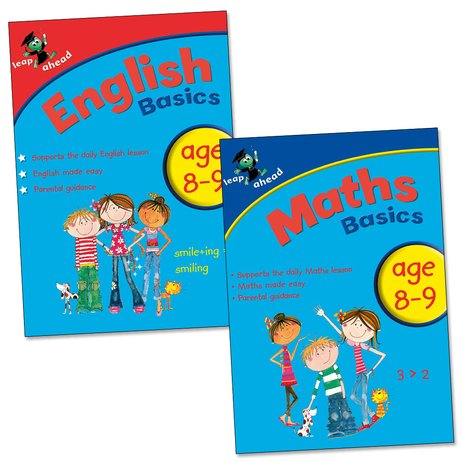 Leap Ahead Basics Pack: English and Maths (Ages 8-9)