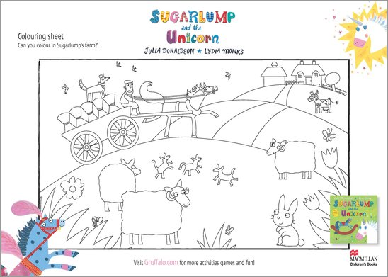 Sugarlump and the Unicorn Colouring