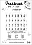 Petticoat Pirates wordsearch