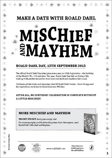 Dahl Day Mischief & Mayhem Activity Pack