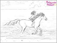 Princess Ponies colouring