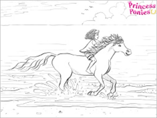 Princess Ponies colouring