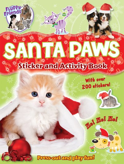 Fluffy Friends: Santa Paws Sticker and Activity Book
