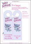 Fairy Animals Chloe the Kitten Doorhanger