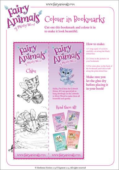 Fairy Animals Chloe the Kitten Bookmark