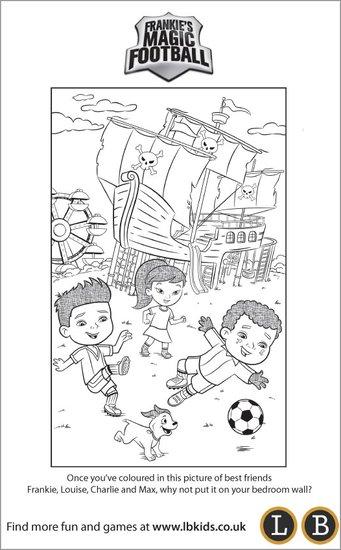 Frankie's Magic Football Colouring