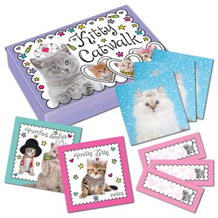 Kitty Catwalk Stationery Box