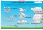 Common types of clouds – poster
