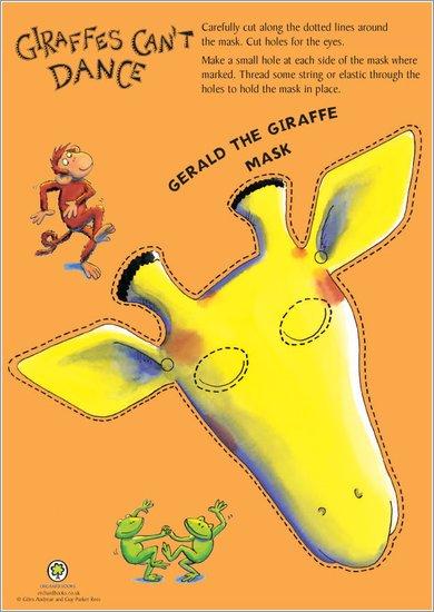 Giraffes Can't Dance mask