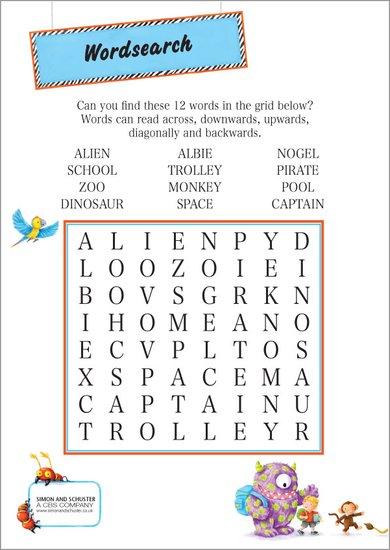 Albie wordsearch