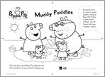 Peppa Pig Muddy Puddles colouring
