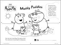 Peppa Pig Muddy Puddles colouring