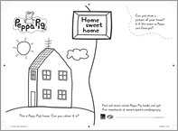 Peppa Pig Home Sweet Home colouring