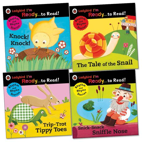 Ladybird I'm Ready to Read! Rhythm and Rhyme Storybook Pack x 4