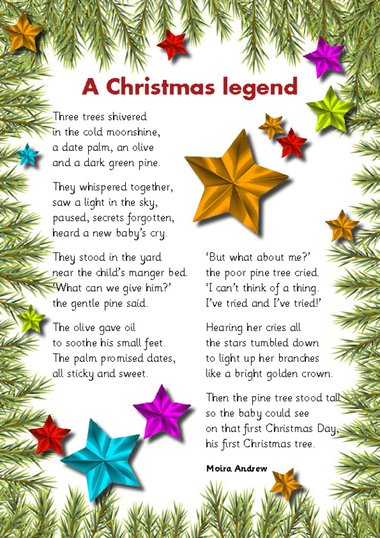 Religious Christmas Poems.A Christmas Legend Poem Primary Ks1 Ks2 Teaching