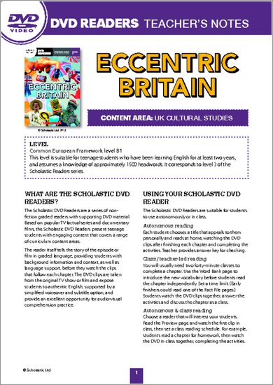 Eccentric Britain: Teacher's Notes